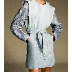 Zara Combination Denim Dress